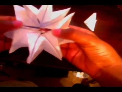 How to make a simple origami firework