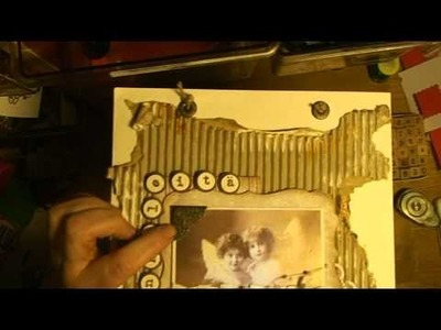 HOW TO MAKE A VINTAGE SCRAPBOOKING LAYOUT