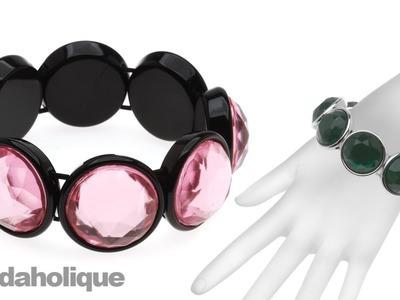 How to Make a Vintage Flatback Bezel Stretch Bracelet