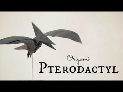 How to make an Origami Pterodactyl. Pteranodon (Tadashi Mori)