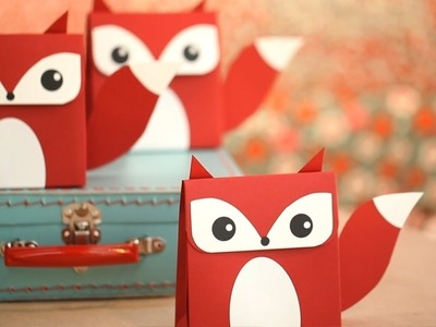 How to Make Fox Favor Boxes  || KIN DIY