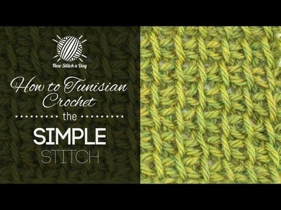 How to Tunisian Crochet the Tunisian Simple Stitch