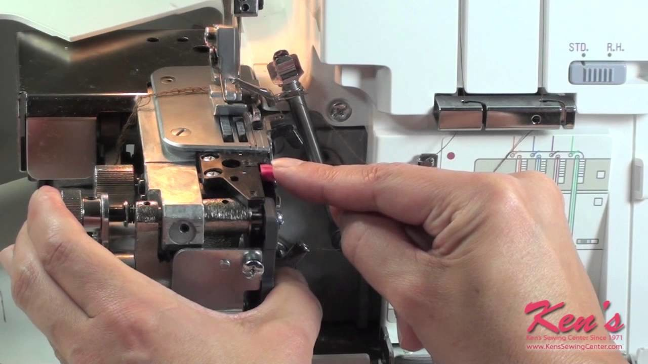 How to Use the Janome Serger Beading Attachment