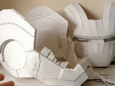 Iron Man helmet Pepakura tutorial Part 1  (software, scaling, printing and building)