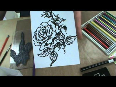 Learn Peel Off Stickers, Watercolors, Stampendous Stamps at Scrapbooking Made Simple