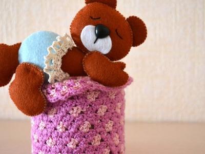 Make a Cute Felt Teddy Bear - DIY Crafts - Guidecentral