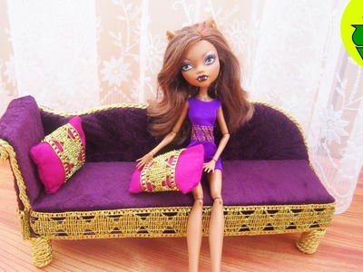 Make a sofa for Monster High Clawdeen Wolf - Recycling - Doll Crafts
