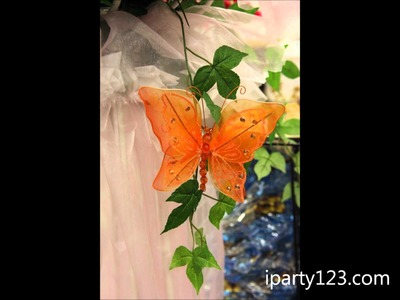 Nylon Rhinestone Butterfly, Party Decoration Ideas from iparty123.com