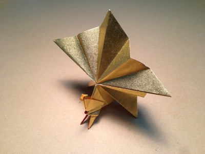 Origami Bird  Instructions. Peacock