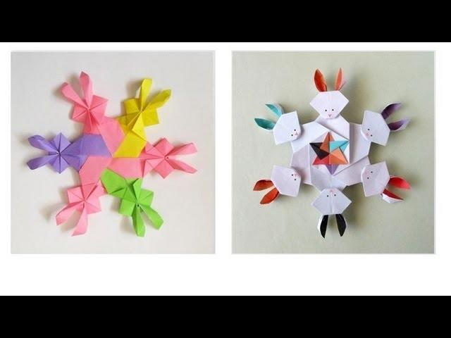 Origami Bunny-go-round -Ronda de conejos