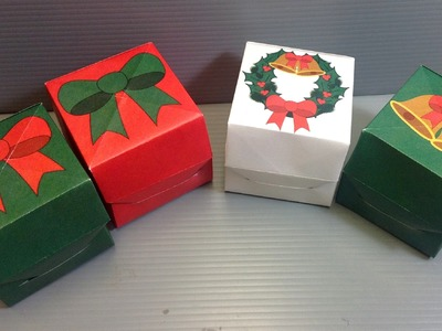 Origami Christmas Gift Box - Print Your Own