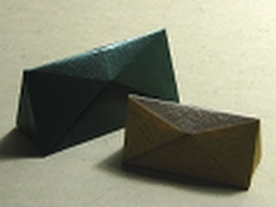 Origami Instructions: Triangular Box (Hans-Werner Guth)