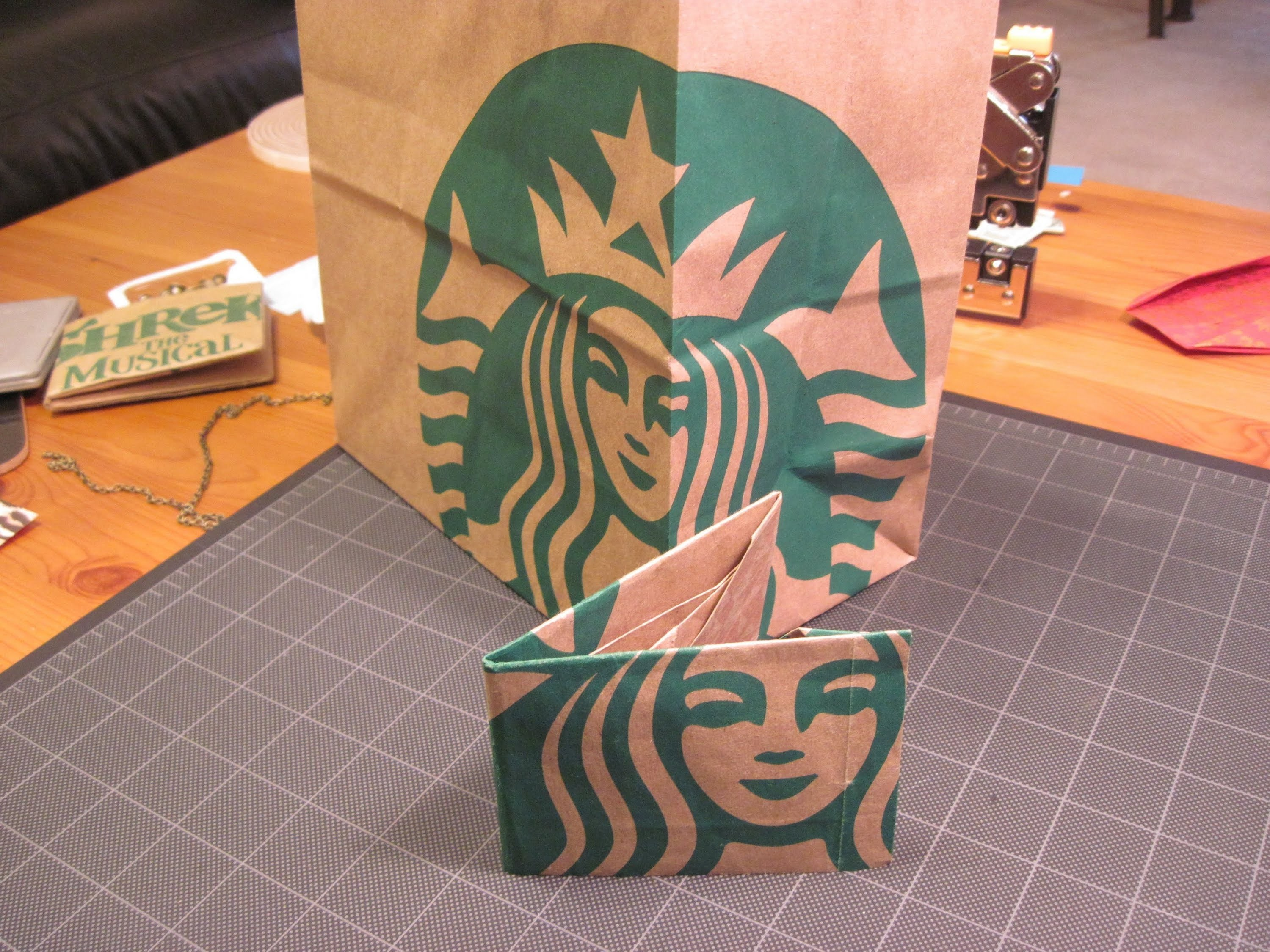 Origami Starbucks Paper Bag Wallet