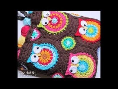 Owl Toteem - Crochet Owl Bag Pattern - Presentation
