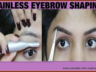 Painless Facial Hair Removal ,How To ,DIY Eyebrow Shaping Tutorial, SuperPrincessjo