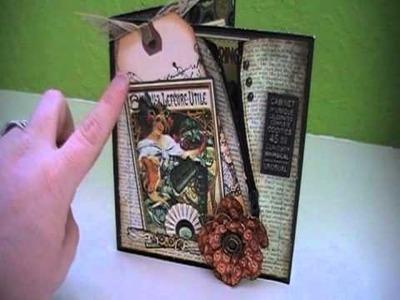 Scrapbook Graphic 45 Steampunk Stitched Zipper Card