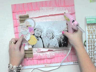 Scrapbooking Tutorial: Painting ruffle papers by Wilna Furstenberg