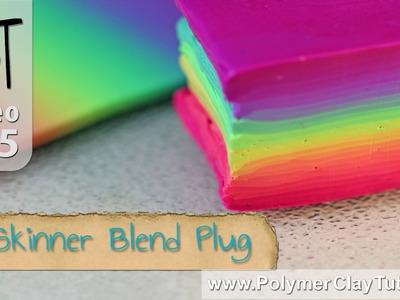 Skinner Blend Plug - Square Polymer Clay Rainbow Cane