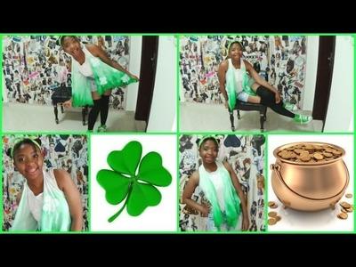 Torii's St. Patricks' Day: Last Minute DIY No-Sew Vest
