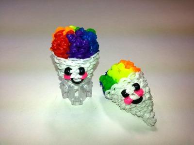 3-D Happy Snow Cone Tutorial by feelinspiffy (Rainbow Loom)