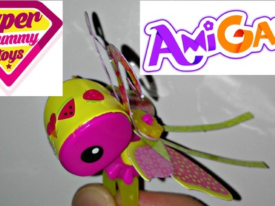 AmiGami Butterfly Paper Craft Animal Mattel Opening Toy Review With Helper