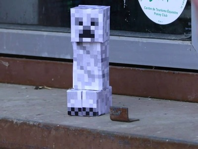 Creeper papercraft explosion fail