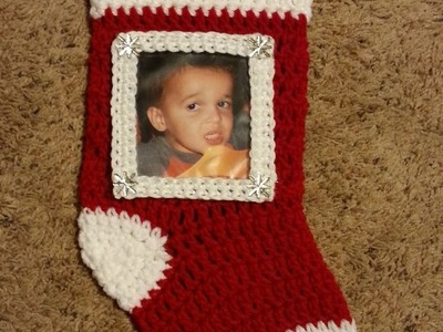 #Crochet Christmas Stocking with Picture Frame #TUTORIAL Holiday Crochet