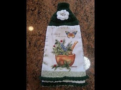 Crochet easy kitchen towel bottom design DIY tutorial