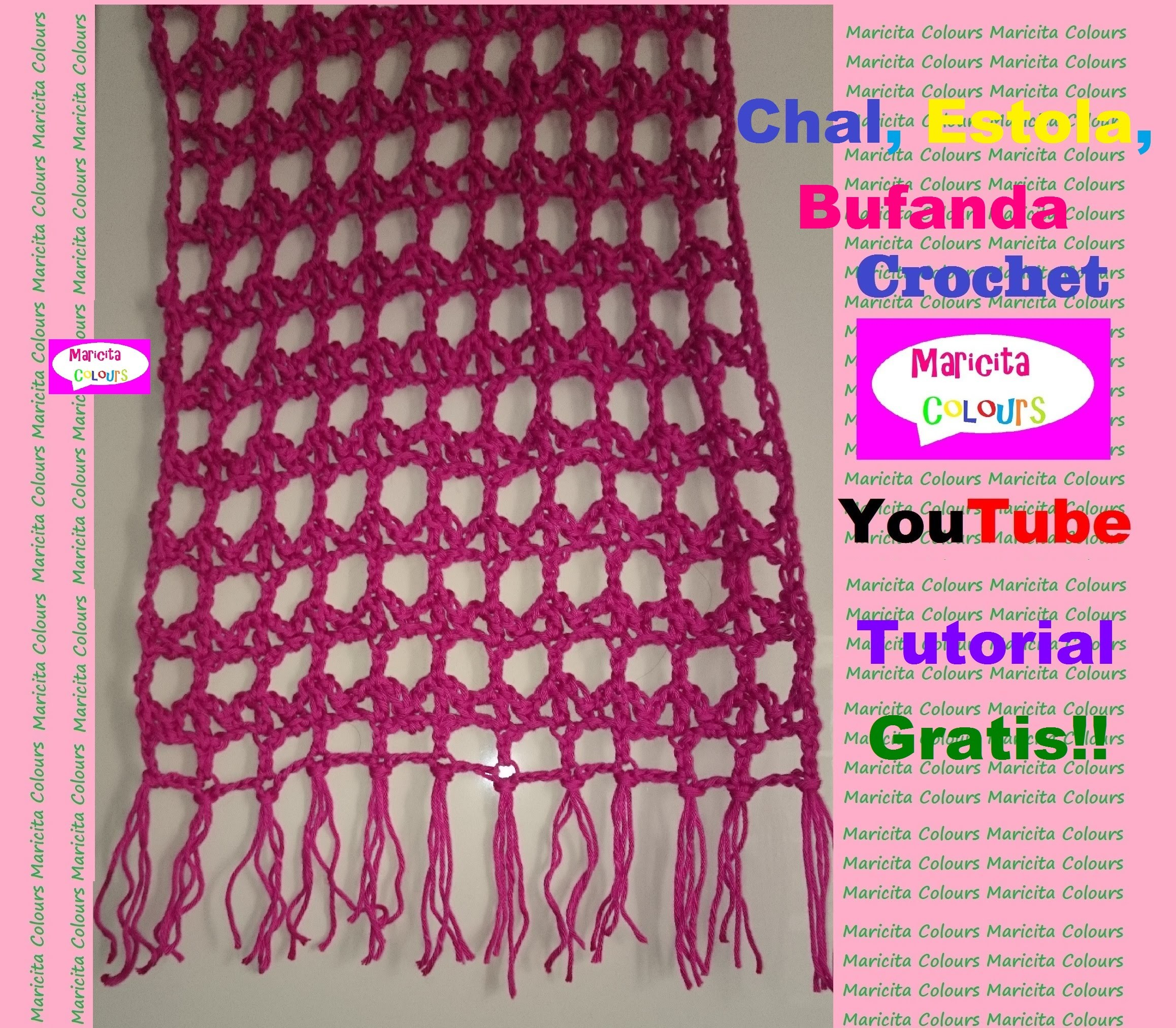 "Crochet in English Shawl ""Emi"" Pattern Frei!! by Maricita Colours in English"