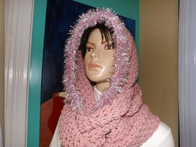 Crochet Scoodie Or Circular Scarf With A Hood