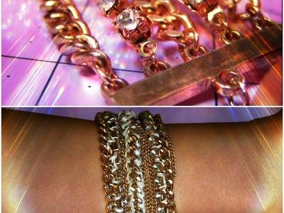 DIY ARMCANDY Multi-Chain Link Bracelet Part 2