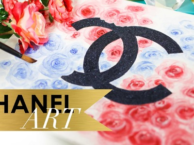 DIY CHANEL Floral Art {Rose Painting} by ANNEORSHINE