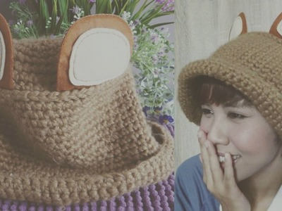 DIY FASHION: 2 Minute K-Pop Bear Hat (Upcycle Your Old Hats)