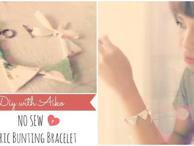 DIY Fashion : No Sew Fabric Bunting Bracelet Tutorial