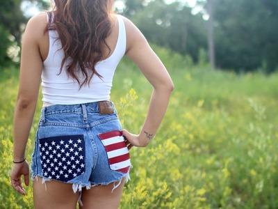 DIY: Flag Shorts ( Classic Vs. Grunge)