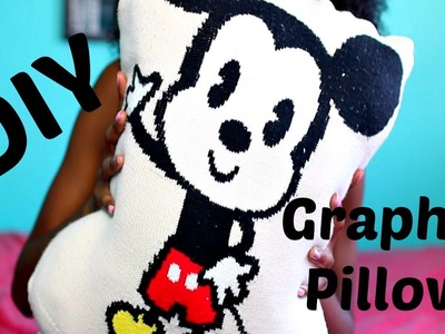 DIY Graphic Pillow From An Old Sweater | Tashalala