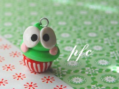 DIY Keroppi Cupcake Polymer Clay Charm Tutorial