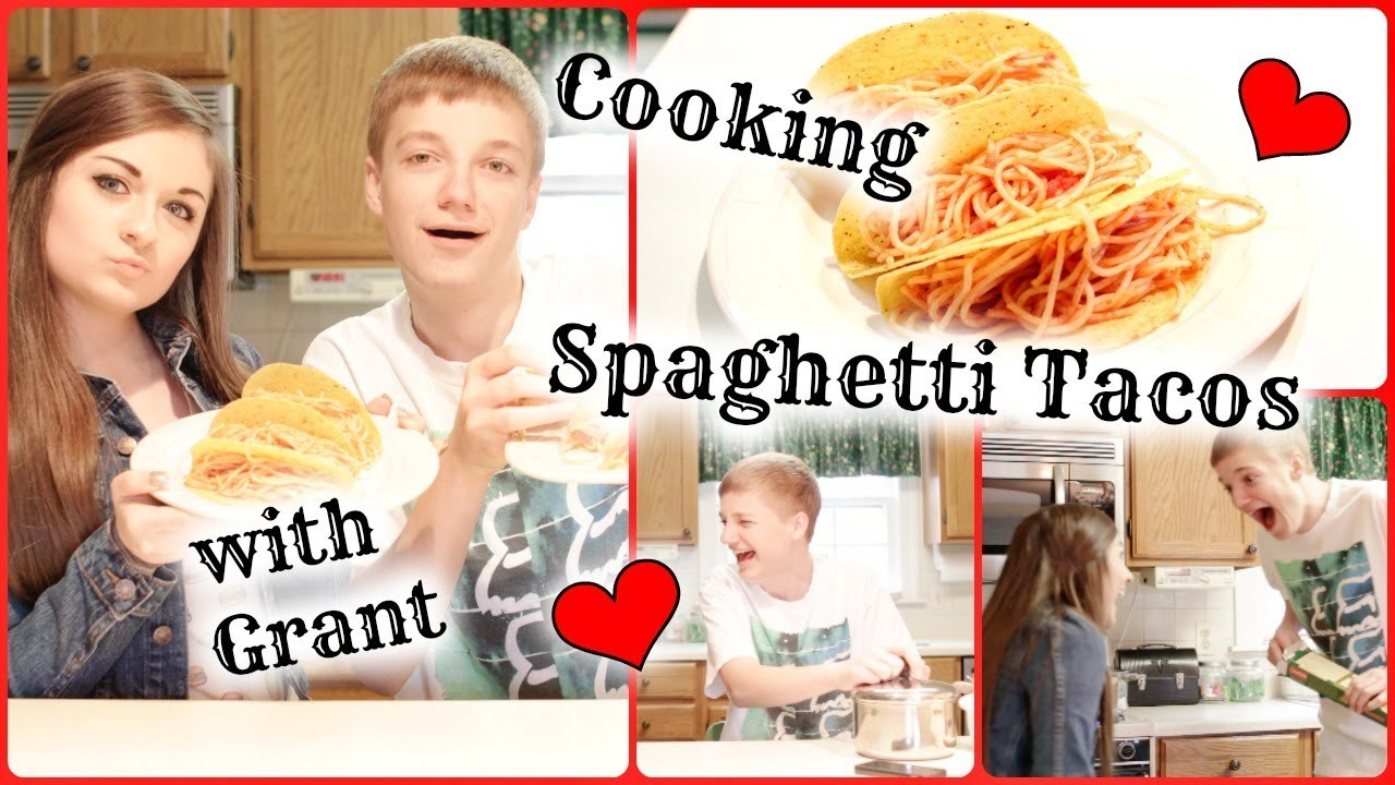 DIY Spaghetti Tacos & Cooking Show?!   ft. Grant