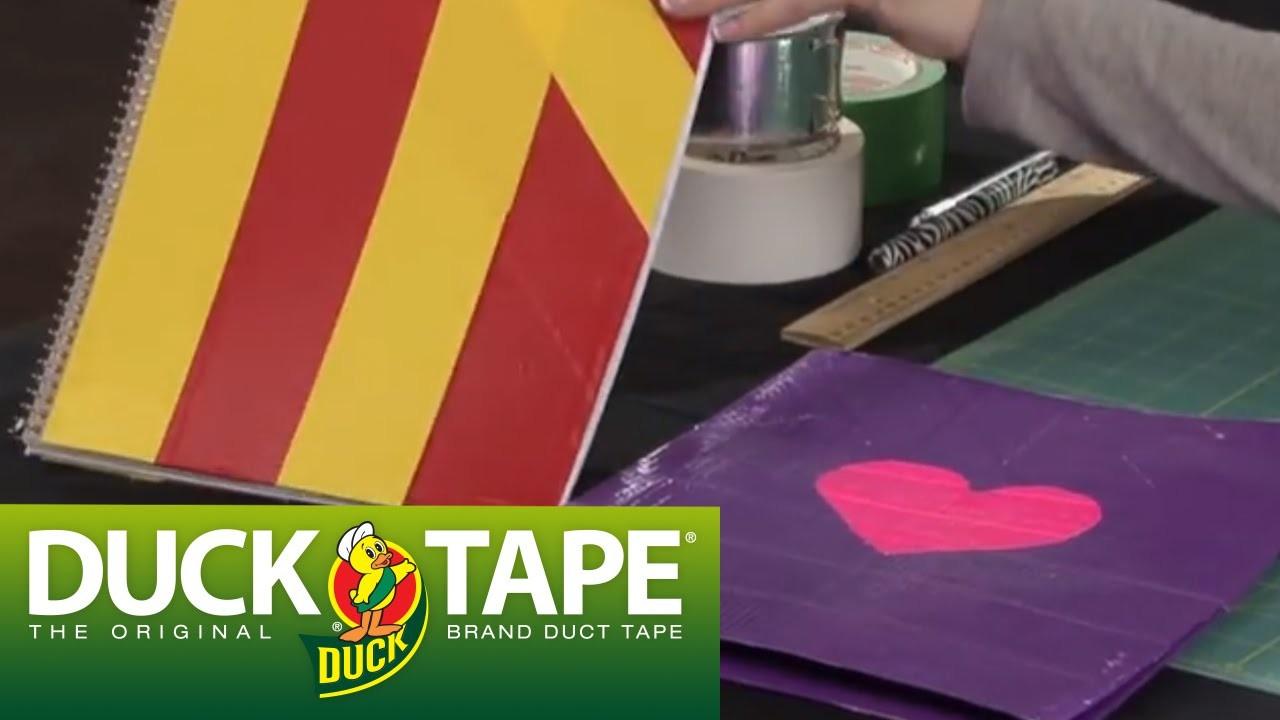 Duck Tape Craft Ideas: How to Make a School Folder