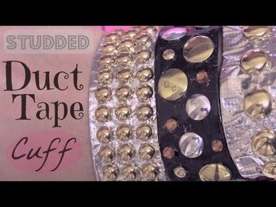 Duct Tape Studded Cuff Bracelet - How To