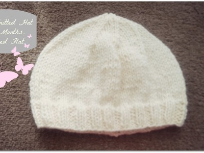 Easy Knitted Hat 0-3 Months | Worked Flat