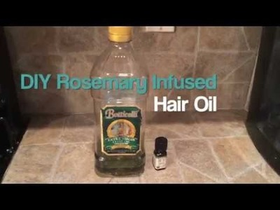 EASY NATURAL DIY ROSEMARY INFUSED HAIR OIL TUTORIAL | itsmeladyg