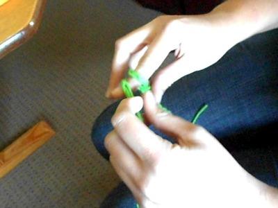 Finger Knit Flower Video #2