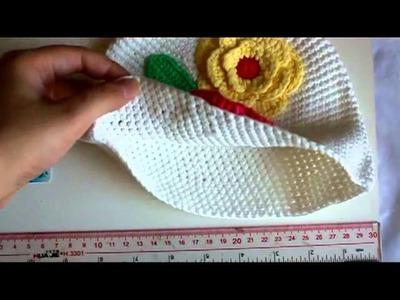 Flower Crochet Toddler Baby Hat Photography Prop HANDMADE Kid cap ett6w White
