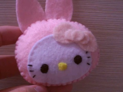 Hello Kitty in a bunny costume plushie tutorial :)