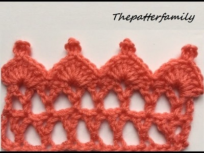 How to Crochet the Edge. Border Stitch Pattern #19 │ by ThePatterfamily