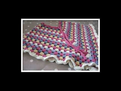 How to crochet v stitch baby blanket