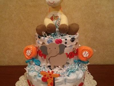 How to make a Diaper Cake DIY Tutorial by shopbgd.com