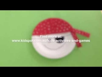 How to make a Paper plate pirate
