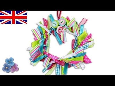 How to Make a Ribbon Wreath DIY *Christmas Decorations* Homemade Christmas Ornaments Mathie